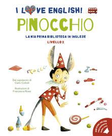Listadelpopolo.it Pinocchio dal capolavoro di Carlo Collodi. Livello 2. Ediz. italiana e inglese. Con File audio per il download Image