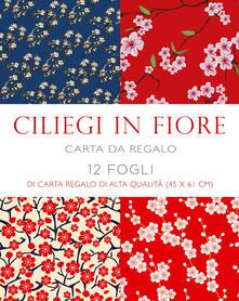 Amatigota.it Ciliegi in fiore. 12 fogli di carta regalo di alta qualità (45x61 cm) Image