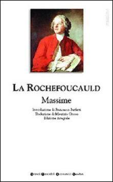 Massime - François de La Rochefoucauld - copertina