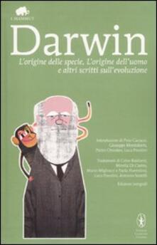 «L'origine della specie», «L'origine dell'uomo» e altri scritti sull'evoluzione - Charles Darwin - copertina