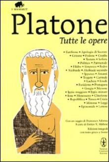 Tutte le opere. Testo greco a fronte - Platone - copertina