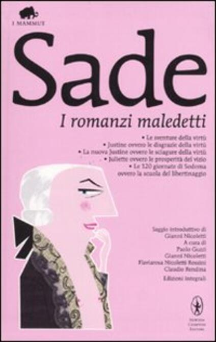 I romanzi maledetti - François de Sade - copertina