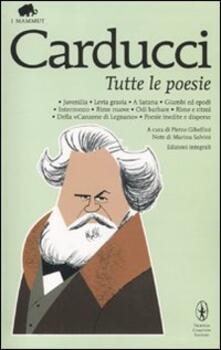Tutte le poesie. Ediz. integrale - Giosuè Carducci - copertina