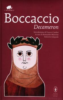 Il decameron. Ediz. integrale - Giovanni Boccaccio - copertina