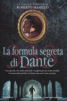 333. La formula segreta di Dante - Roberto Masello - copertina