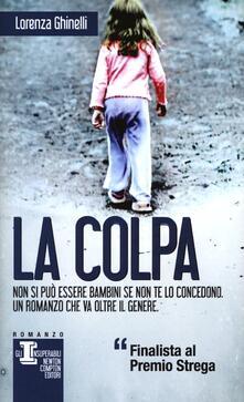 La colpa - Lorenza Ghinelli - copertina