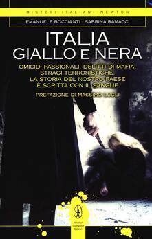Italia giallo e nera - Emanuele Boccianti,Sabrina Ramacci - copertina