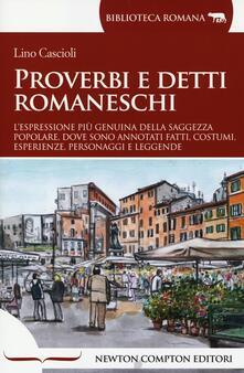 Proverbi e detti romaneschi - Lino Cascioli - copertina