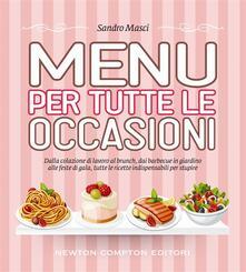 Menu per tutte le occasioni - Sandro Masci - ebook