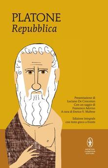 La Repubblica. Testo greco a fronte. Ediz. integrale - Platone - copertina
