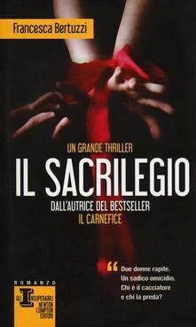 Il sacrilegio - Francesca Bertuzzi - copertina