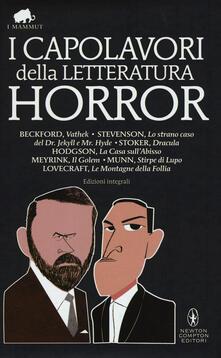 I capolavori della letteratura horror - copertina
