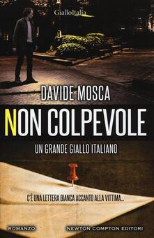 Non colpevole - Davide Mosca - copertina