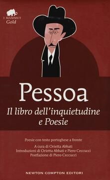 Il libro dell'inquietudine-Poesie. Testo portoghese a fronte - Fernando Pessoa - copertina