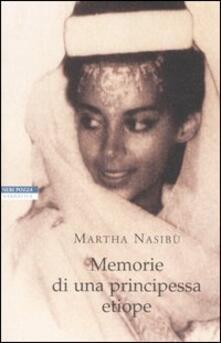 Memorie di una principessa etiope - Martha Nasibù - copertina