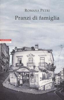 Pranzi di famiglia - Romana Petri - copertina