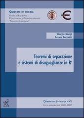 Teoremi di separazione e sistemi di disuguaglianze in Rn
