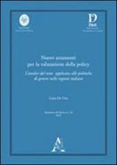 Nuovi strumenti per la valutazione della policy. L'analisi del testo applicata alle politiche di genere nelle regioni italiane. Ediz. multilingue