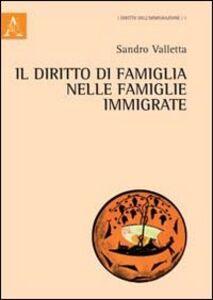 Foto Cover di Il diritto della famiglia nelle famiglie immigrate, Libro di Sandro Valletta, edito da Aracne