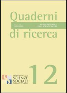 Foto Cover di Analisi fattoriale per le scienze sociali, Libro di Roberto Albano,Daniela Molino, edito da Aracne