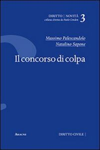 Foto Cover di Il concorso di colpa, Libro di Massimo Palescandolo,Natalino Sapone, edito da Aracne