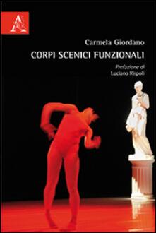 Corpi scenici funzionali - Carmela Giordano - copertina