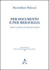 Per documento e per meraviglia. Storia e scrittura nel Seicento italiano