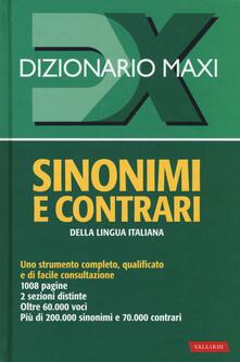 Premioquesti.it Dizionario maxi. Sinonimi e contrari della lingua italiana Image