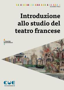 Winniearcher.com Introduzione allo studio del teatro francese Image