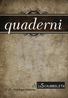 Fondazionesergioperlamusica.it Quaderni di Inschibboleth (2019). Vol. 12: Ontologia trinitaria. Image