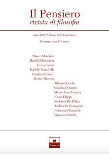 Il pensiero. Rivista di filosofia (2020). Vol. 1: Niccolò Cusano. - copertina