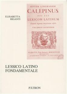 Lessico latino fondamentale.pdf