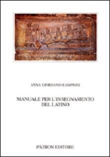 Manuale per linsegnamento del latino.pdf