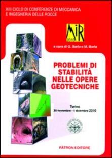 Premioquesti.it Mir 2010. Problemi di stabilità nelle opere geotecniche. Torino 2010 Image
