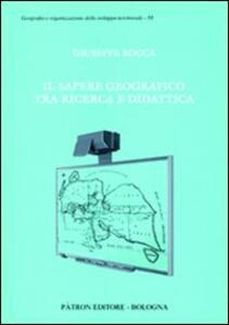 Il sapere geografico tra ricerca e didattica