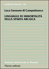 Linguaggi di immortalità nella Sparta arcaica