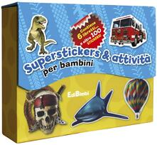 Daddyswing.es Superstickers & attività per bambini. Con adesivi. Ediz. illustrata Image
