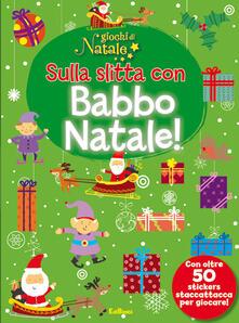 Daddyswing.es Sulla slitta con Babbo Natale! Giochi di Natale. Con adesivi Image