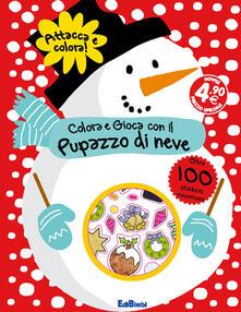 Festivalpatudocanario.es Colora e gioca con il pupazzo di neve. Con adesivi Image