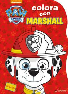 Colora con Marshall. Paw Patrol