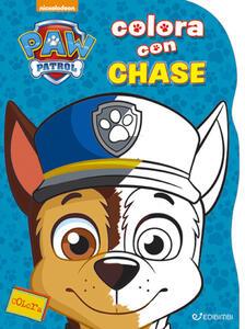 Colora con Chase. Paw Patrol