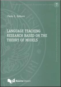 Language teaching research based on the theory of models