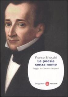 La poesia senza nome. Saggio su Giacomo Leopardi.pdf