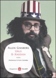 Urlo & kaddish - Allen Ginsberg - copertina