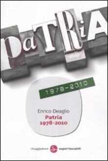 Patria 1978-2010 - Enrico Deaglio - copertina