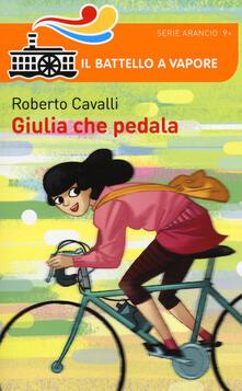 Giulia che pedala - Roberto Cavalli - copertina