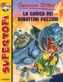 La carica dei robottini puzzoni - Geronimo Stilton - copertina