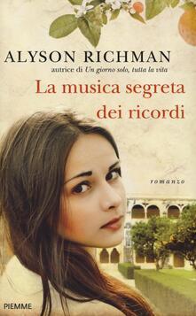 La musica segreta dei ricordi - Alyson Richman - copertina