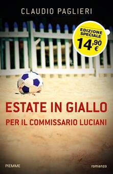 Estate in giallo per il commissario Luciani - Claudio Paglieri - copertina