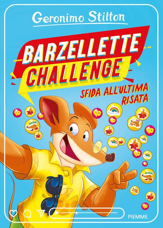 Barzellette challenge. Sfida all'ultima risata - Geronimo Stilton - copertina